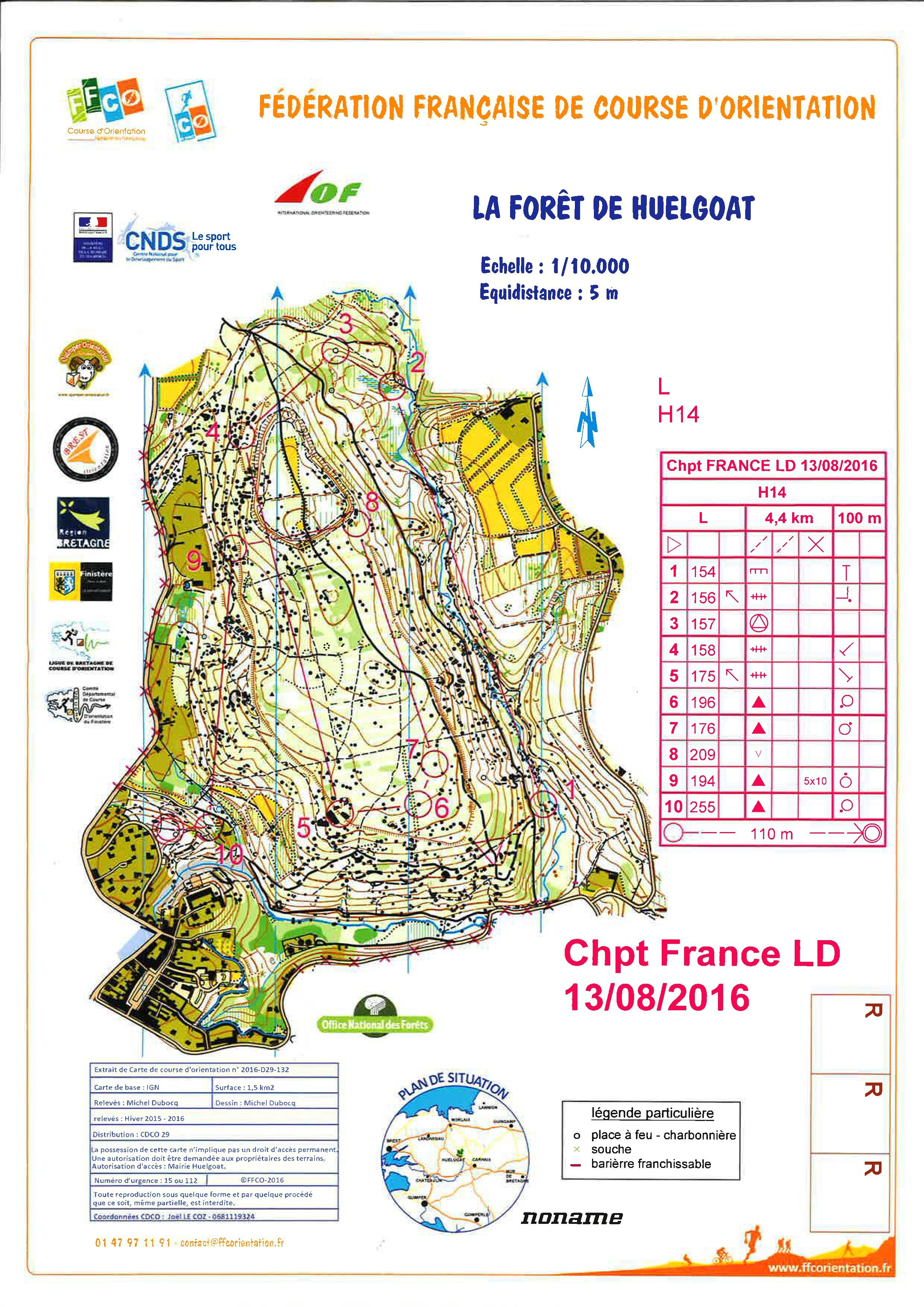 Championnat de France Longue Distance (13-08-2016)