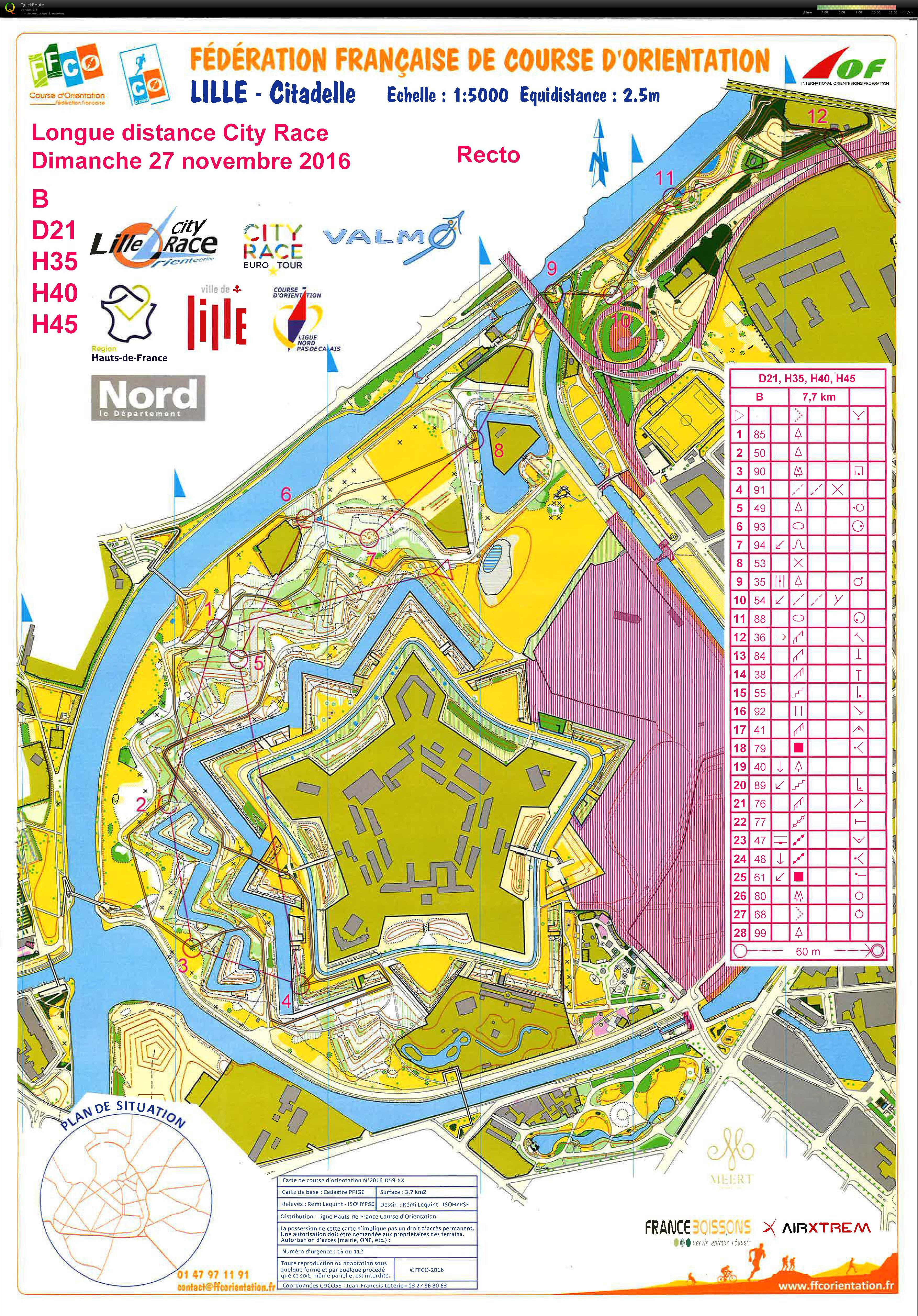 Lille City Race - Citadelle (27-11-2016)