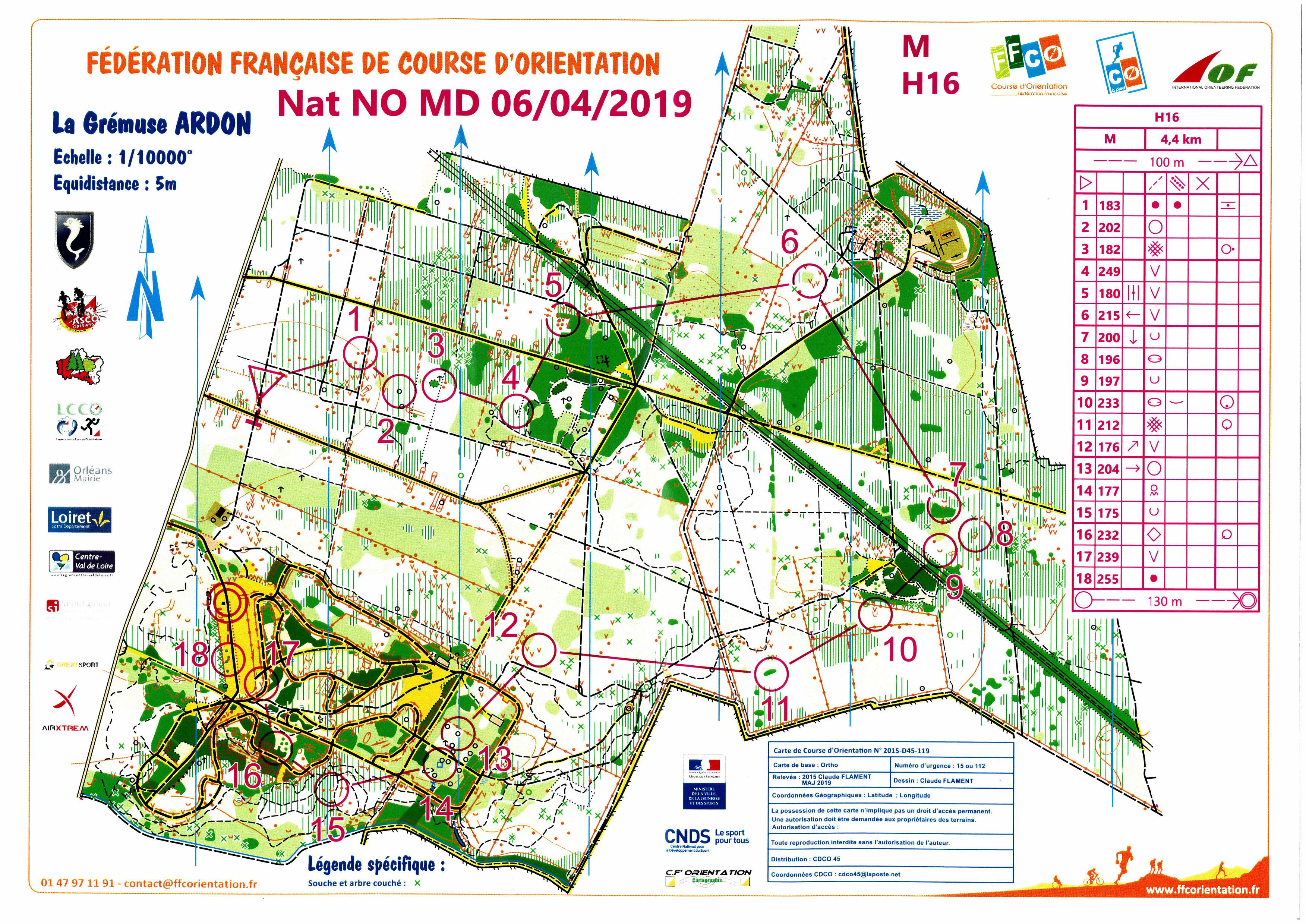 Nationale NO -Middle Distance (06-04-2019)