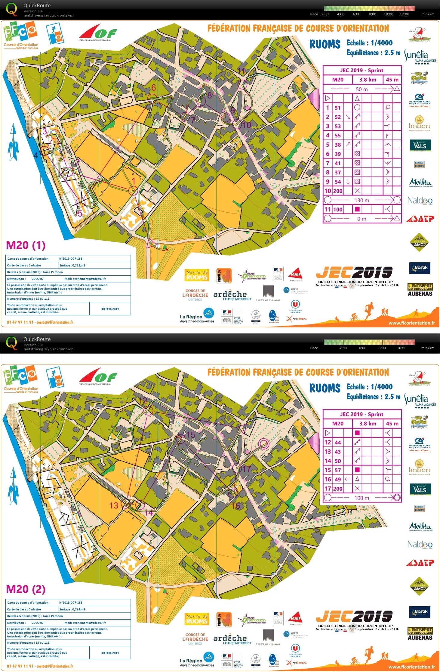Junior European Cup - Sprint - H-20 (27-09-2019)