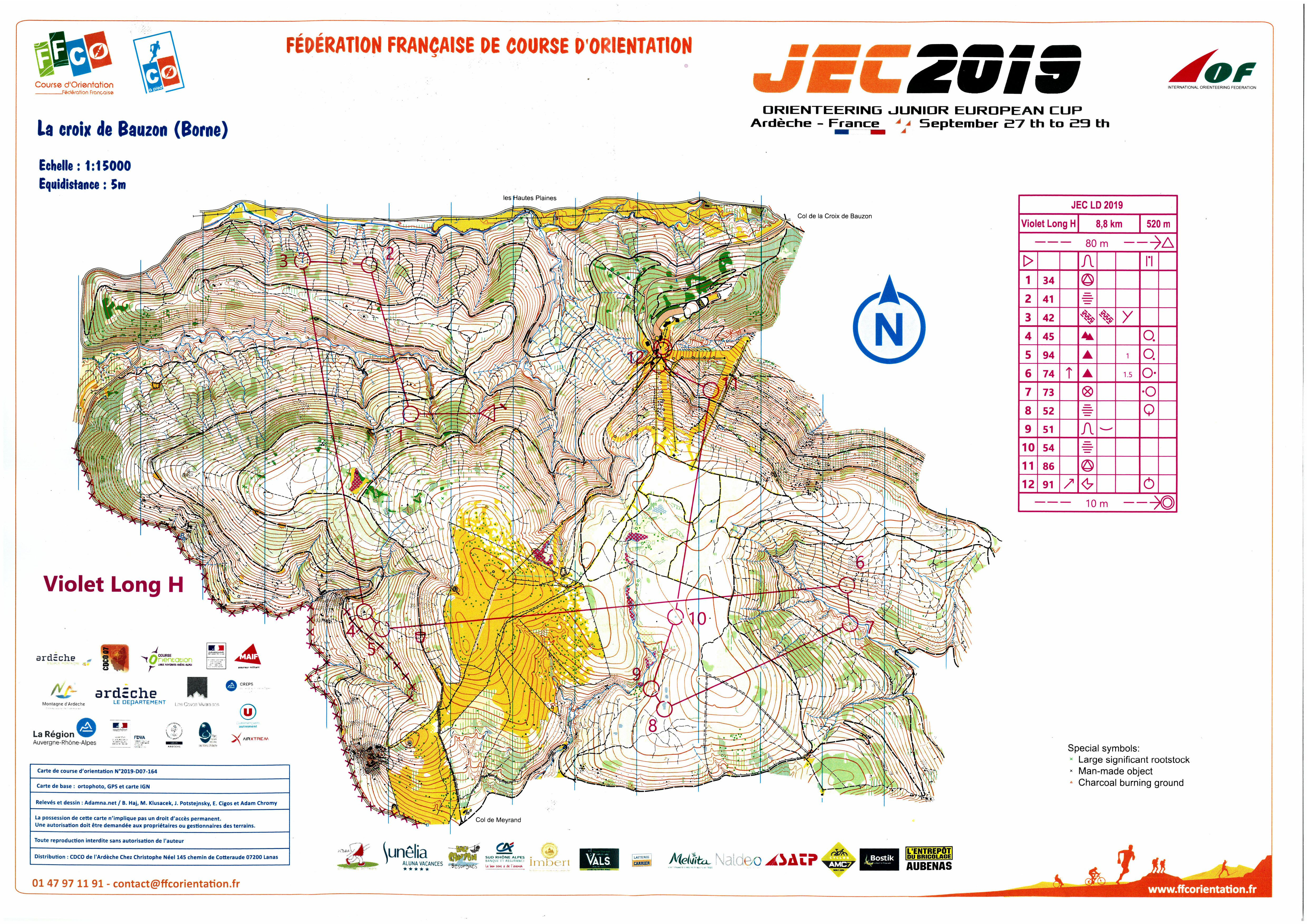 Junior European Cup - Longue Distance - H-20 (28.09.2019)